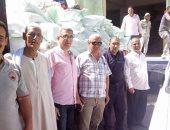ضبط 175 جوال دقيق مدعم قبل بيعها لأحد مصانع المكرونة فى بنى سويف