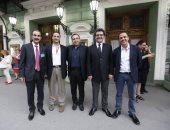صور.. عمرو عرفة وأحمد السعدنى وأحمد رزق أول حضور حفل عمر خيرت فى روسيا