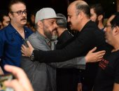ماجد المصرى وعمرو عبد الجليل وأحمد صيام فى عزاء الراحل ماهر عصام