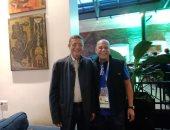 صور.. محمود طاهر رئيس الأهلى السابق يظهر فى فندق المنتخب بروسيا