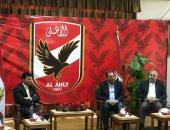 وزير الرياضة يصل الأهلى فى الزيارة الرسمية الأولى بعد توليه المسئولية - صور