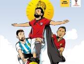 BBC عن محمد صلاح: الملك المصرى يصل المونديال
