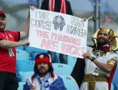 صور.. توافد الجماهير على ملعب سان بطرسبرج قبل لقاء مصر وروسيا بالمونديال