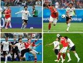 التعادل سيد الموقف  بالشوط الأول لمباراة مصر وروسيا