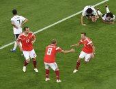 مصر تخسر للمرة الثانية فى كأس العالم  من روسيا بثلاثة أهداف مقابل هدف