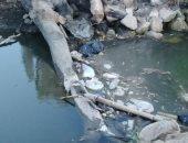 قارئ يطالب بتطهير ترعة بثلاث قرى فى شبرا خيت بالبحيرة من المخلفات والقمامة