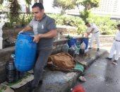 رفع الإشغالات بموقف عبد المنعم رياض وتنظيف محيط الأماكن الأثرية بالدرب الأحمر
