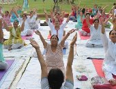 """صور.. اليوم العالمى لليوجا ينطلق تحت شعار """"اليوجا من أجل السلام"""""""