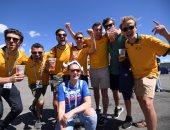 صور.. توافد الجماهير لحضور مباراة الدنمارك وأستراليا