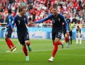كيليان مبابى أفضل لاعب فى مباراة فرنسا وبيرو بكأس العالم 2018