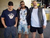 """السقا وخالد الصاوى بصحبة المخرج محمد سامى فى أمريكا بسبب """"3 شهور"""""""