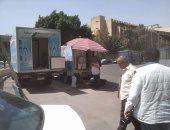 نقل سيارات بيع السلع الغذائية من شارع الترعة البولاقية بشبرا إلى سوق أحمد حلمى