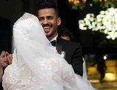 صور.. اللاعب عمرو موسى يحتفل بزفافه بحضور محافظ بورسعيد ونجوم الرياضة