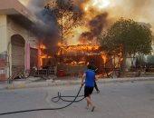 السيطرة على حريق هائل فى مخبز بالمحمودية