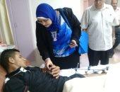 محافظ الجيزة يطمئن على حالة مصابى قطاع غزة بمستشفى الشيخ زايد التخصصى