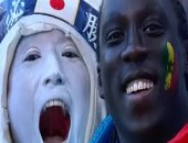 كأس العالم يجمع الشعوب.. سنغالى برفقة يابانية فى روسيا.. فيديو