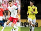 التشكيل الرسمى لمباراة كولومبيا وبولندا فى كأس العالم