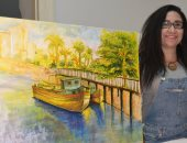 """صور.. """"قناطر أسيوط الجديدة"""" في عيون الفن التشكيلي بملتقي سلسبيل النيل"""