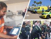 الصحة:2777 سيارة إسعاف و10 لنشات ومروحيتين و22 ألف كيس دم استعدادا للعيد