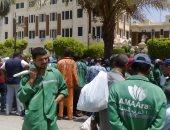 عمال نظافة إحدى الشركات الأجنبية يطالبون محافظة القاهرة بمستحقاتهم المتأخرة