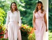 الملكة رانيا تنشر صورة بصحبة ميلانيا ترامب فى واشنطن
