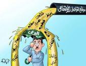 """""""إحباط وشائعات وفتنة"""" من ماسورة صرف مواقع التواصل فى كاريكاتير اليوم السابع"""