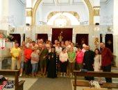 صور.. 35 سائحا ألمانيا يزورون المعالم الدينية القبطية بأسيوط
