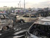 صور.. مصرع 9 بعد احتراق شاحنة وقود فى لاجوس بنيجيريا