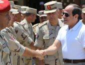 فيديو وصور.. الرئيس السيسى يلتقى ضباط وجنود المنطقة الشمالية العسكرية