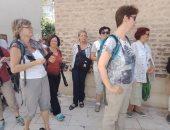 صور.. 35 سائحا ألمانيا يحيون مسار العائلة المقدسة بدير المحرق فى أسيوط
