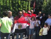 فيديو وصور.. المصريون ببروكسل يحتفلون بذكرى ثورة 30 يونيو رافعين صور السيسي