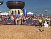 فيديو.. عرائس روسيات يلعبن كرة القدم بالتزامن مع مباراة فرنسا والأرجنين