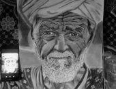 """قارئ يشارك """"صحافة المواطن"""" بلوحاته الفنية باستخدام الرصاص والفحم"""