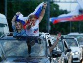 """كأس العالم 2018.. احتفالات صاخبة فى روسيا بعد التأهل لربع النهائي """"صور"""""""