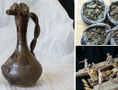 شرطة ميناء دمياط تضبط 14 قطعة فنية وأثرية قبل تهريبها إلى مصر