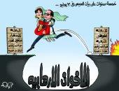 الرئيس السيسى يعبر بمصر لبر الأمان والاستقرار فى كاريكاتير اليوم السابع