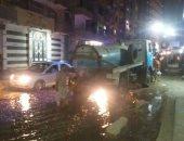 فى استجابة سريعة.. صرف القاهرة تزيل مياه المجارى من شارع يوسف بالمطرية