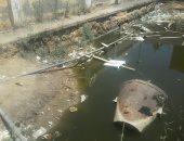 صور.. مياه الصرف تهدد أساسات مدرسة الشهيد معاذ القصبى بدمياط