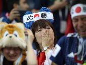 كأس العالم 2018.. بكاء جماهير اليابان بعد وداع المونديال.. صور