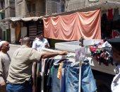 حملة لإزالة التعديات والإشغالات بشارع الهرم والطالبية وفيصل والمطبعة