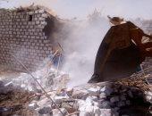 إزالة تعدى قرية سياحية على 1300 متر بسيدى عبد الرحمن فى العلمين