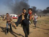 صور.. شهيد و 146 مصابا برصاص الاحتلال الإسرائيلى فى غزة