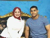 محمد إيهاب بطل رفع الأثقال يعلن خطبته