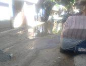 شكوى من انفجار ماسورة مياه بشارع الدكتور فى العمرانية بالجيزة