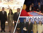 """وزير الآثار يتفقد التجهيزات النهائية لأجنحة معرض """"الكنوز الذهبية للفراعنة"""" بموناكو"""
