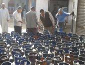 محافظ قنا ضبط 1110 اسطوانة بوتاجاز وتحرير 68 مخالفة تموينية بنجع حمادى