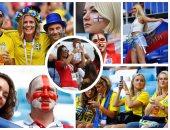 احتفالات كرنفالية لجماهير السويد وإنجلترا فى مباراة دور الـ8 بكأس العالم