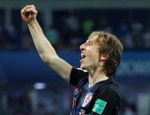 لوكا مودريتش أفضل لاعب فى مباراة كرواتيا وروسيا بكأس العالم 2018