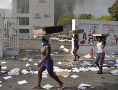 عمليات سلب ونهب للمتاجر واشتباكات عنيفة خلال مصادمات فى هايتى