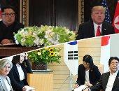 """صور.. الجولة الآسيوية لـ""""بومبيو"""" تهدد السلام فى شبه الجزيرة الكورية.. اتفاق """"يابانى أمريكى كورى جنوبى"""" على نزع بيونج يانج سلاحها النووى.. واشنطن وطوكيو تؤكدان استمرار العقوبات..وكوريا الشمالية ترفض مطالب أمريكا"""